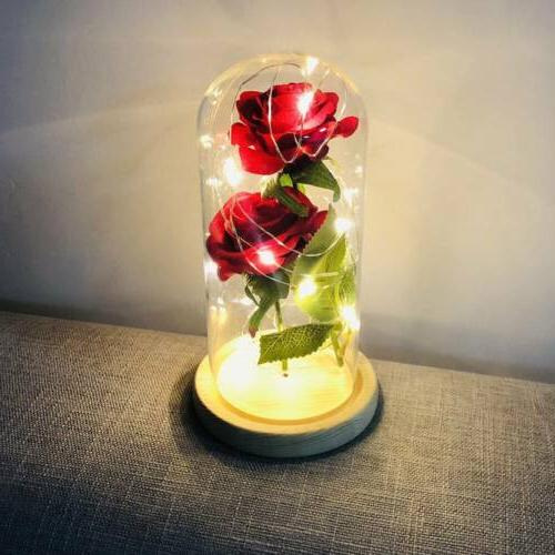 Romantic LED Powered Flower Light Desk