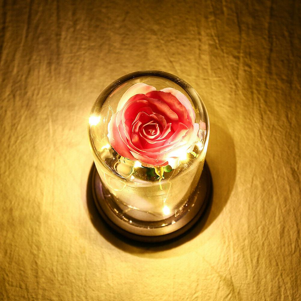 Rose Flower Lights Copper Wire Fairy Gift