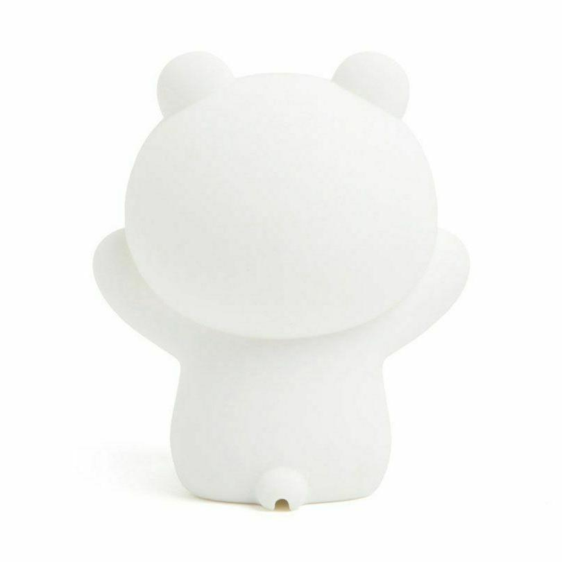 Silicone Bedside LED Brown Cony Rabbit Lights Bedroom