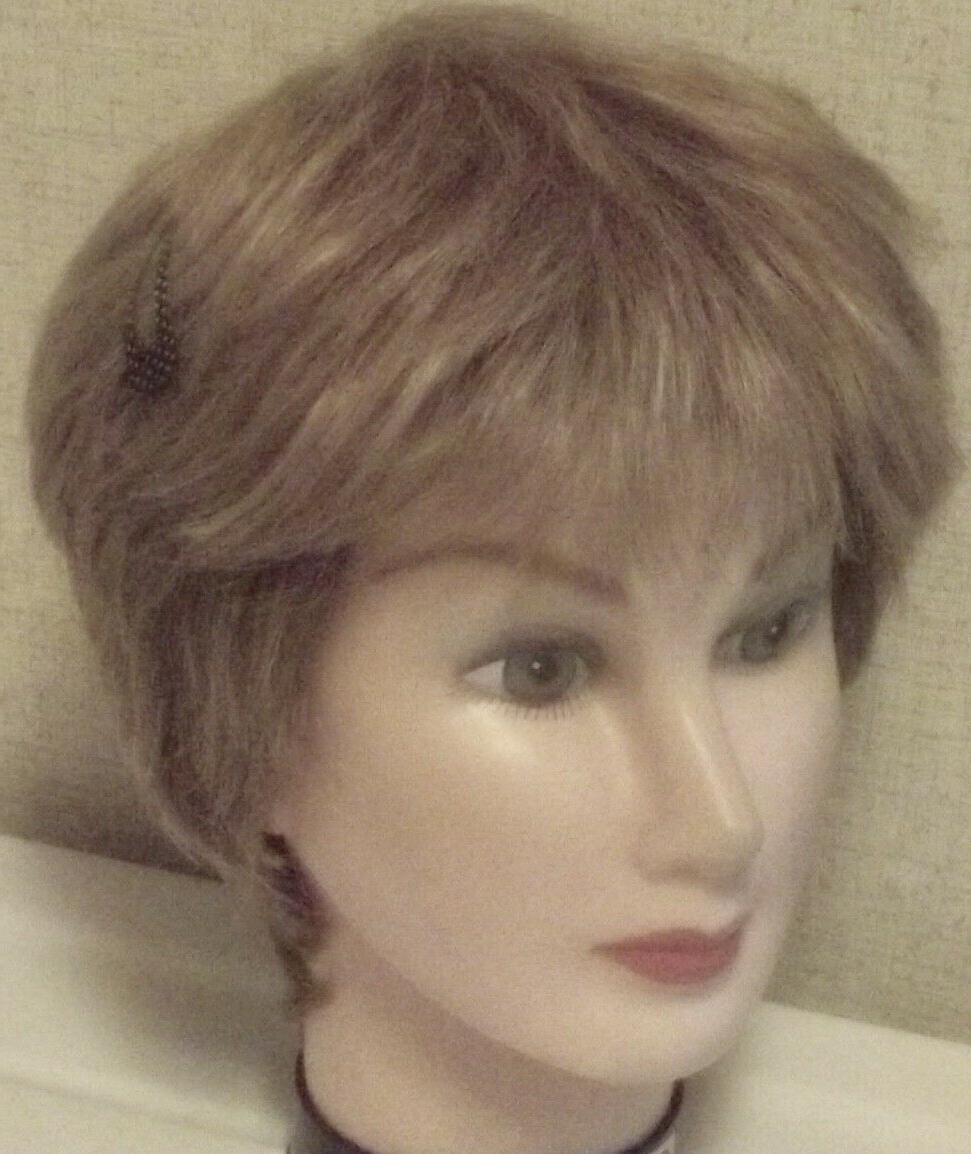 synthetic wig light brown mix average adjustable