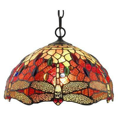 Tiffany Style Dragonfly Hanging Lamp