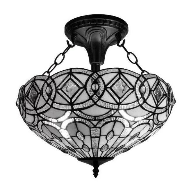Tiffany Style Light Traditional Ceiling Fixture Decorative G
