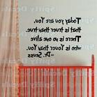 TODAY YOU ARE YOU Dr Seuss Quote Vinyl Wall Decal Child