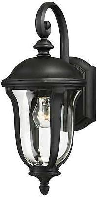 Traditional Outdoor Wall Fixture Black Downbridge for Porch Patio