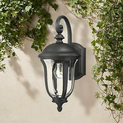 traditional outdoor wall light fixture black 16