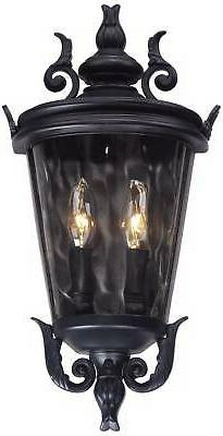 Traditional Wall Light Fixture Black for