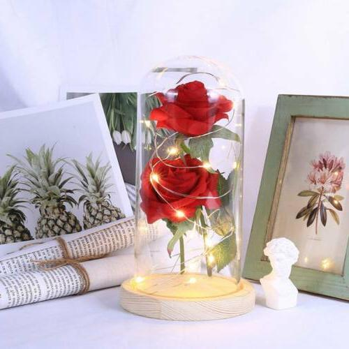 Romantic Powered Red Flower Light Lamp Lights