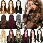 USA Fring Blunt Bangs Long Straight Wig Full Wigs Adjustable