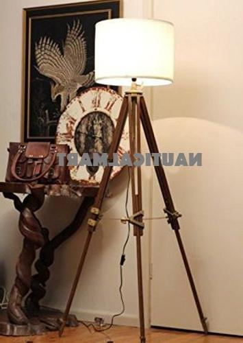 Nauticalmart Vintage Classic Tripod Floor Lamp Nautical Floor