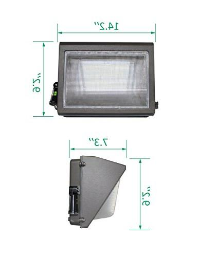 LED Adjustable HPS/MH Replacement, Rated Waterproof Commercial Lighting Fixture, 5000K Warranty by Kadision