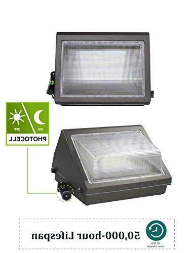 LED Pack Adjustable Photocell, HPS/MH Replacement, IP65 Waterproof Fixture, 12500lm Warranty