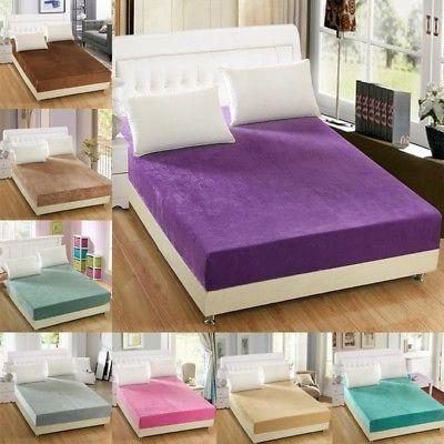 washable flannel bed cover protector mattress protective