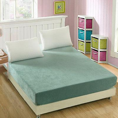 Washable Flannel Bed Protector Mattress Protective Bedding