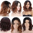 Women Bob Style Curly Lace Front Wig Short Glueless Hair Wig