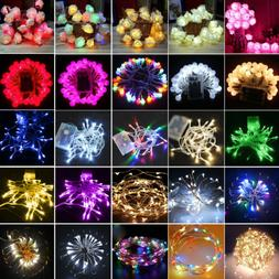 LED Fairy String Lights Battery Operated Wedding Party Outdo