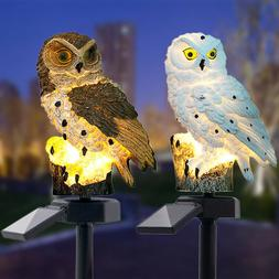 LED Garden Light Solar Night Lights Owl Shaped Solar-Powered