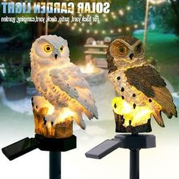 Outdoor Solar Powered Landscape Lights Garden Decor Owl Lamp