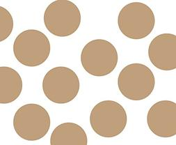 "Set of 48-1"" Light Brown Circles Polka Dots Vinyl Wall Graph"