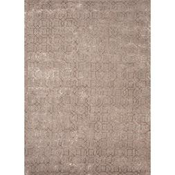 5' x 8' Light Brown Rembrandt Hand Tufted Wool and Art Silk