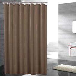 Eforgift Light Brown Shower Curtain Fabric Water Proof Anti-