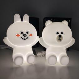 Touch Night Lights Bear Brown Cony Rabbit LED USB Kids Baby