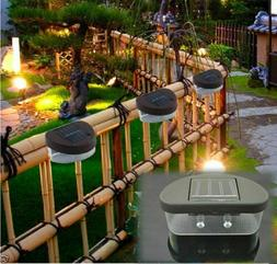 LOT Outdoor Solar Powered LED Path Wall Landscape Mount Ligh