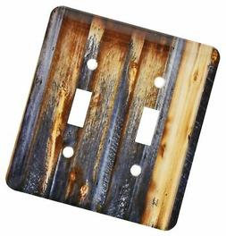 3dRose lsp_124675_2 Brown Barn Wood Look Light Switch Cover