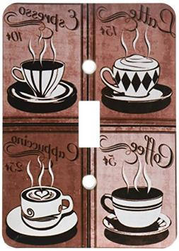 3dRose lsp_163698_1 Image of Coffee Collage of Four Cups in