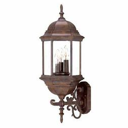 madison collection wall mount 3 light brown