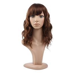 MelodySusie Mid-length Curly Wig Attractive Women Mid-length