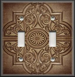 Metal Light Switch Plate Cover - Rustic Medallion Home Decor