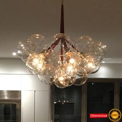 Modern Creative Glass Clear Bubble Pendant Lamp Chandelier F