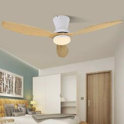 Modern LED Wooden Ceiling White Nordic Living Room Attic Fan