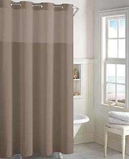Mystery EZ-On RBH40MY224 Sheer Fabric Shower Curtain with Li