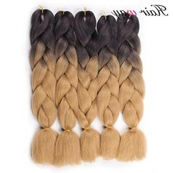 HAIR WAY 24inch Ombre Jumbo Braid Hair Extension 5 Pack 100g