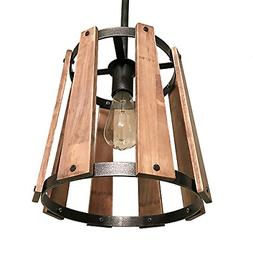 Eumyviv P0016 1 Loudspeaker-Shape Metal Wood Pendant Light,