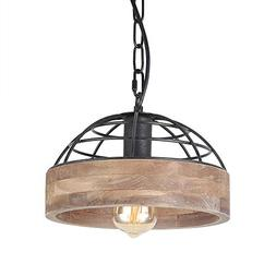 Anmytek P0027 Wood Ceiling Pendant Light, Brown