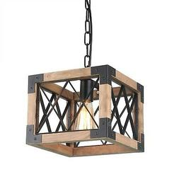 Anmytek P0031 Metal Chandelier Ceiling Lights, Brown