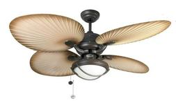 Fantasia Palm 52in IP54 Rated Ceiling Fan & Light Brown with