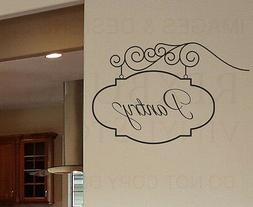pantry sign kitchen wall decal vinyl sticker