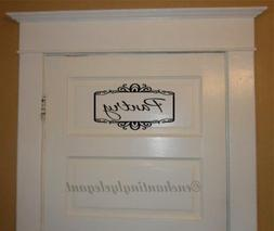 Pantry With Scroll Border Vinyl Decal Wall Sticker Words Let