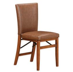 Parson Folding Dining Chair Light Brown Wood Classic Design