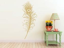 "Large Peacock Feather- Wall Decal  x 19"" )"