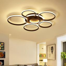Pendant Lamp Modern Led Ceiling Lights Circle Rings Fixtures