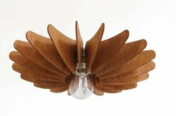 Pendant Light Wood Lamp Shade Lighting Ceiling Fixture Moder