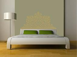 Eyval Decal Pointed Luxe Headboard Vinyl Wall Decal, Queen,