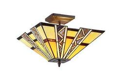 Progressive 2 Light SemiFlush Ceiling Fixture