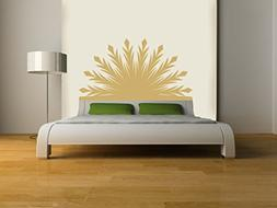 Eyval Decal Radiant Headboard Vinyl Wall Decal, Double, Ligh