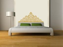 Eyval Decal Regal Headboard Vinyl Wall Decal, Twin, Light Br
