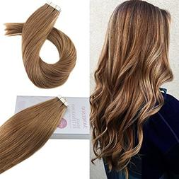 Moresoo 18 Inch Remy Human Hair Tape in Extensions Straight